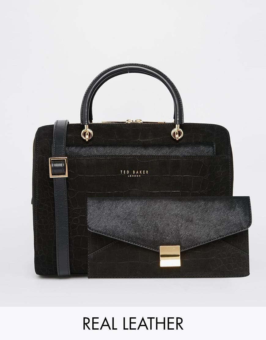 Ted Baker | Ted Baker Arinia Bowler Bag with Removable Clutch Bag at ASOS