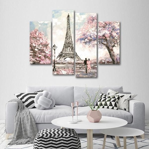 Lovers In Paris Multi Panel Canvas Wall Art Paris Wall Decor Canvas Wall Art Wall Canvas