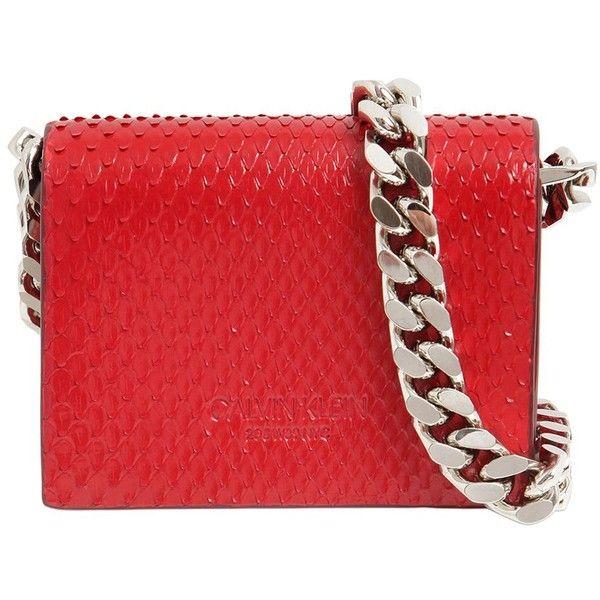 CALVIN KLEIN 205W39NYC Womens Python Chain Shoulder Bag SItUv4BPI