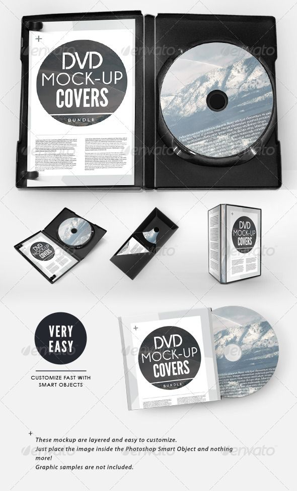 cd / dvd presentation cover case mock-up bundle | mockup, template, Presentation templates