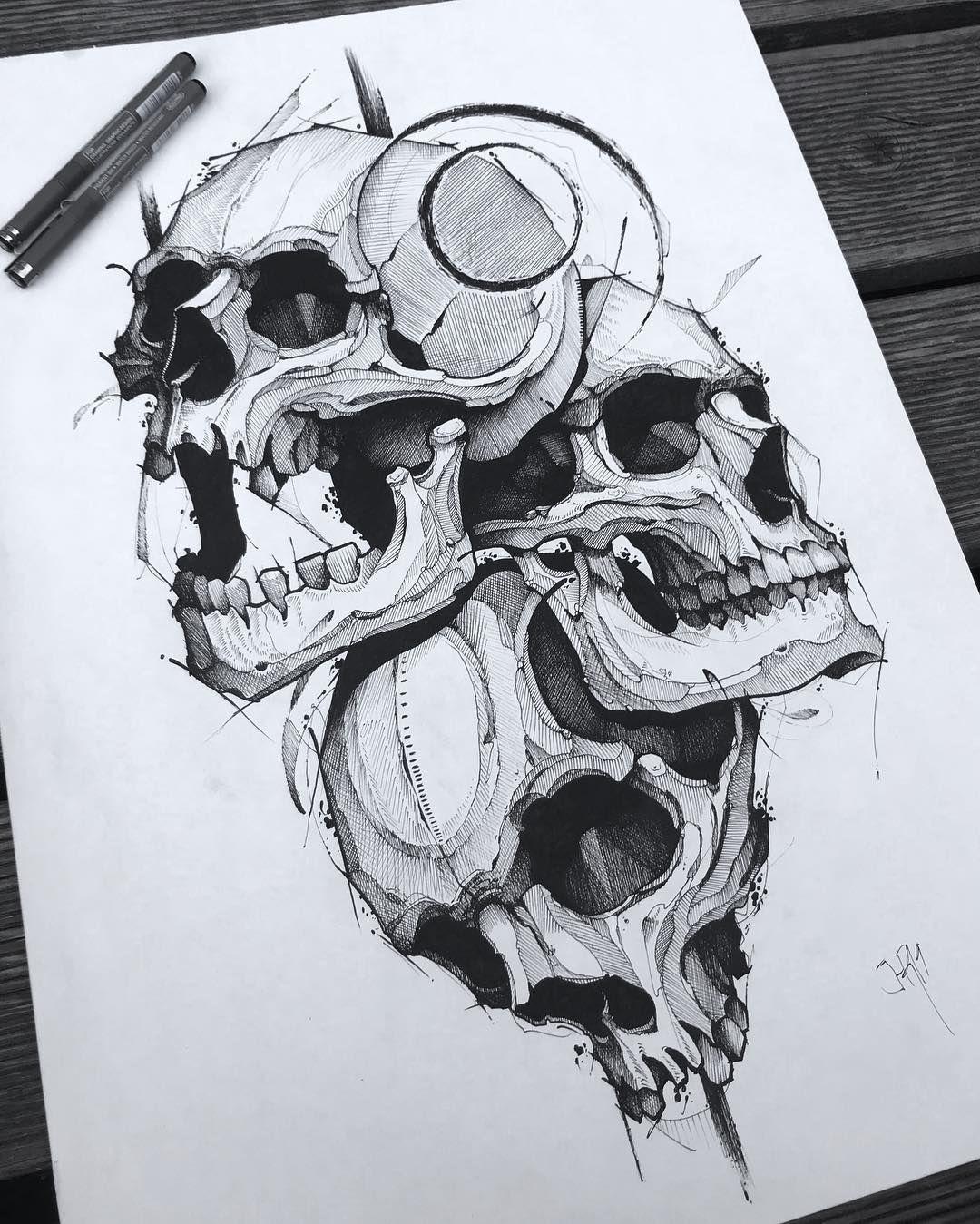 La Imagen Puede Contener Dibujo Craneos Tattoo Como Dibujar Tatuajes Calaveras A Lapiz