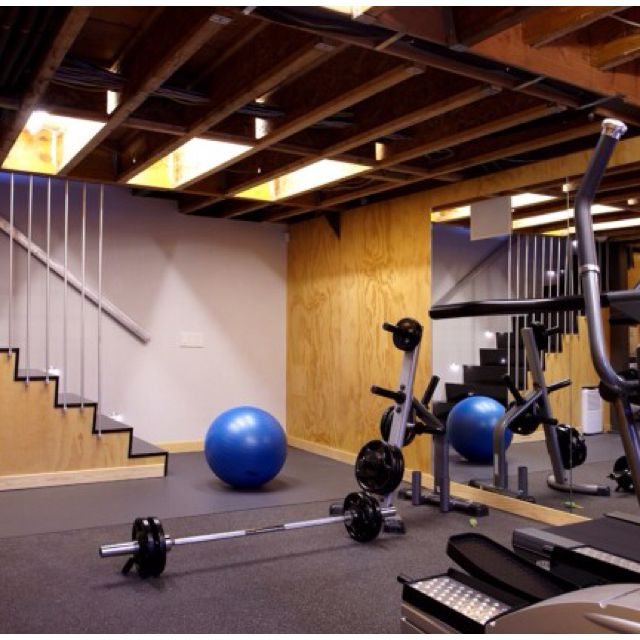 Home Gym Design Ideas Basement: Simple To Convert The Basement To A Gym