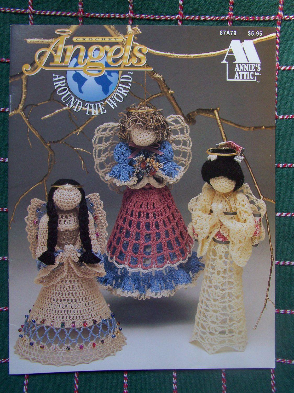 Annies Attic Crochet Angels Around The World By Doilydallys Etsy