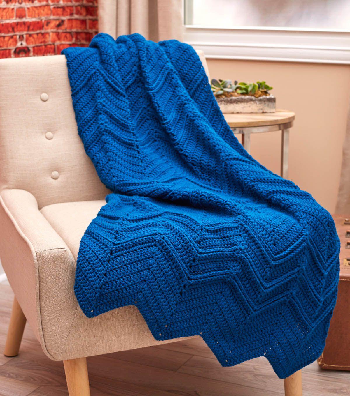 How To Crochet the Elegant Ripple Throw | DIY | Pinterest