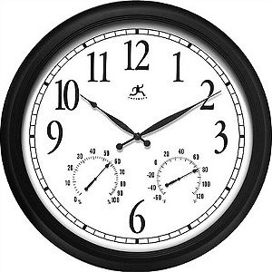 Infinity Instruments The Definitive Outdoor Atomic Wall Clock With Weather Station At Hsn Com Outdoor Clock Wall Clock Atomic Wall Clock