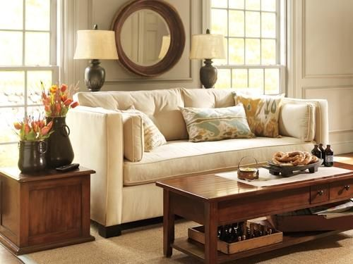 Cream Sofa Living Room Designs Cool Puttywarm Gray Wall Behind Cream Sofa Room Decorating Ideas Room Decorating Design