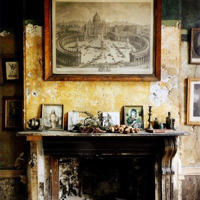 crumbling wall | Living Dining Bedroom | Pinterest | Walls ...