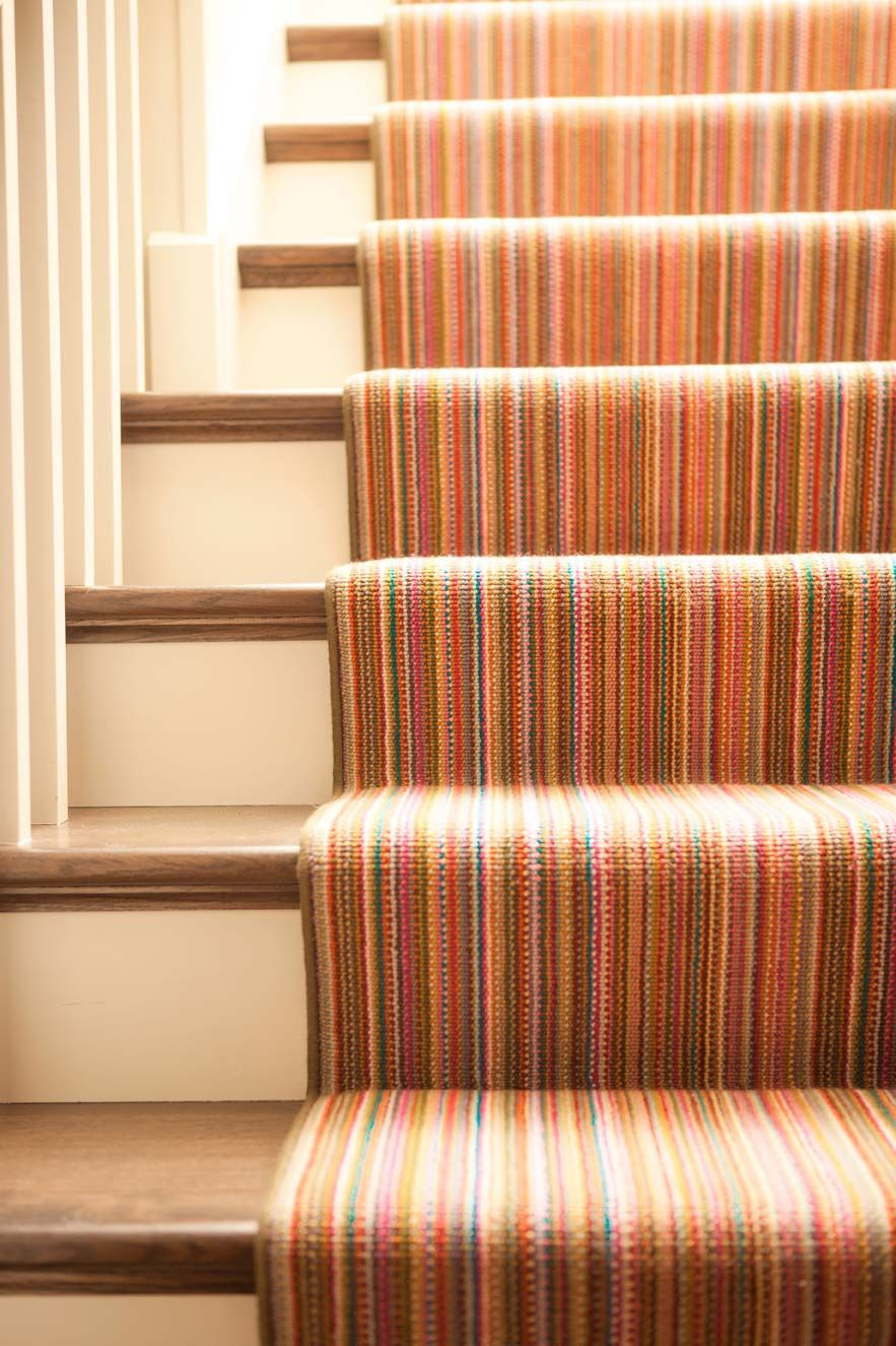 Colorful Stair Runner Karen Kempf Interiors Floor