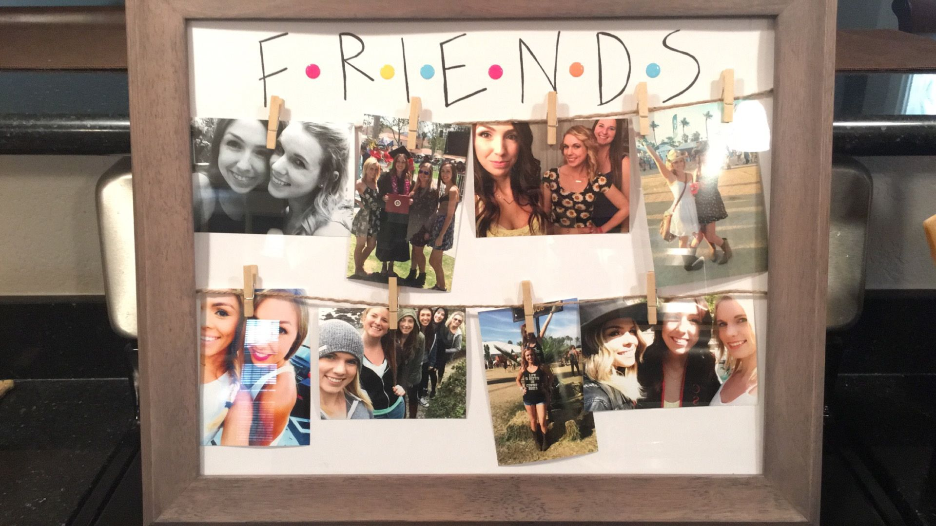 Friends inspired picture collage I made for