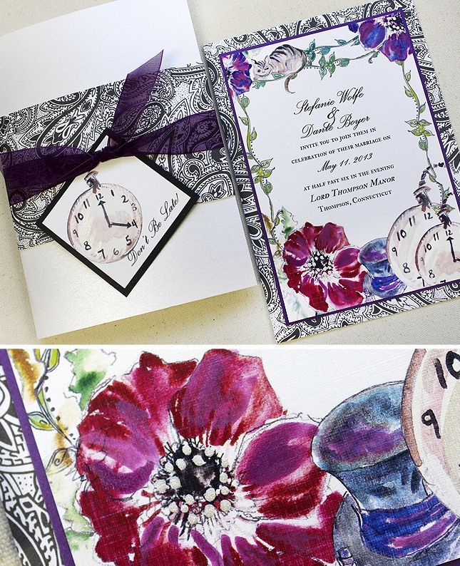 Alice And Wonderland Wedding Invitations: Alice In Wonderland Wedding Favors
