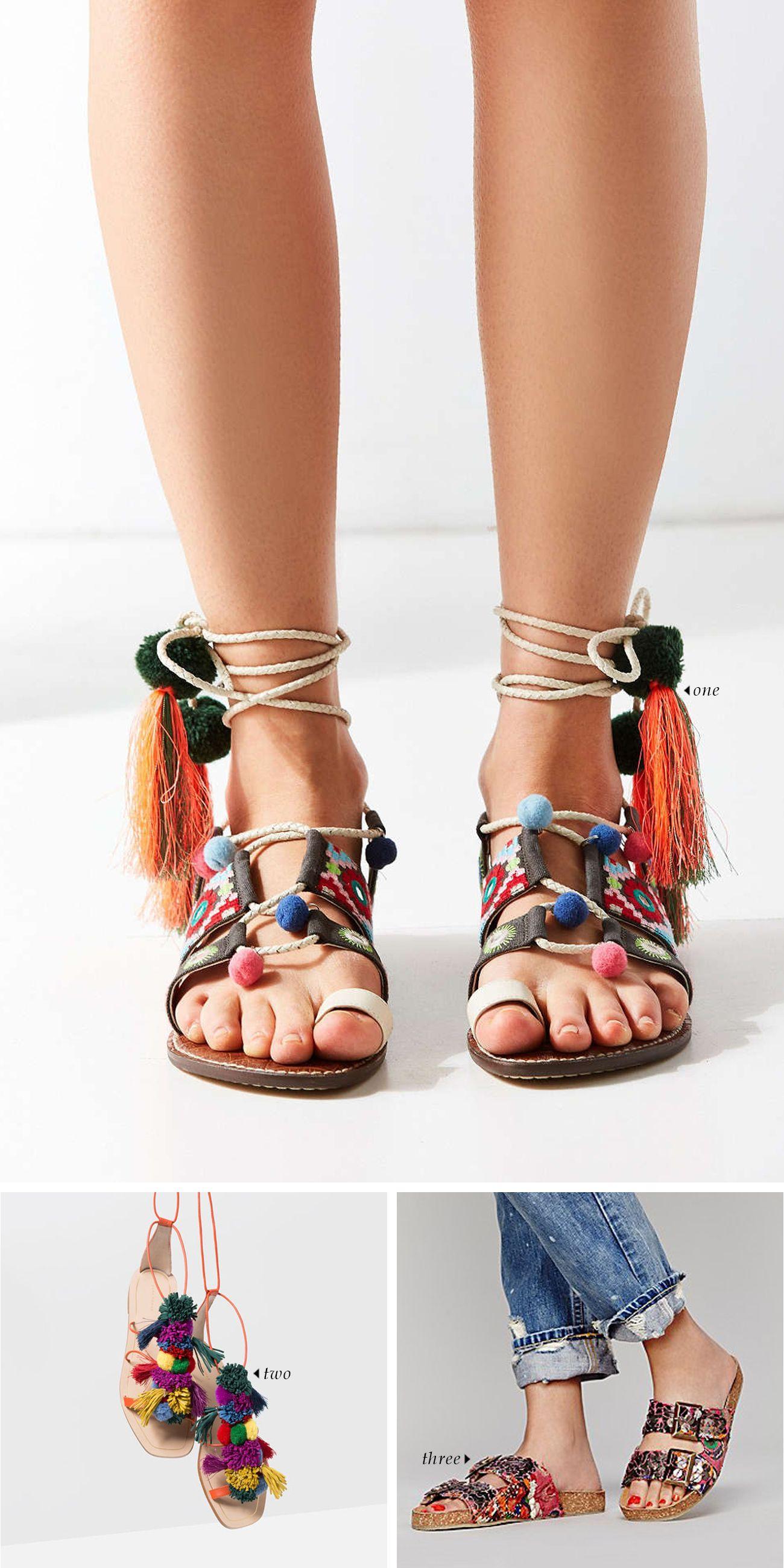 Spring-Summer 2016 Shoe Trends | Rainbow Sandals
