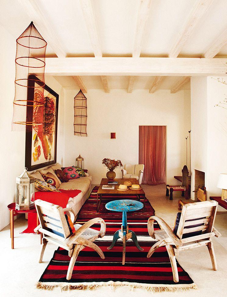 Decor D Ibiza Chez Eugenia Silva A Formenta Decoration Maison Decor Rustique Moderne Maisons Bohemiennes
