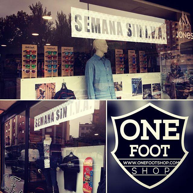 Desde hoy hasta el sábado 13 semana sin iva  no te lo puedes perder....onefootshop.com #aviles #avilesk8 #onefootshop #skateboard #asturias #rebajas #ofertas #moda #gijon#oviedo #salinas #nortparks #montereylocals #salinaslocals- posted by Onefootshop Onefoot https://www.instagram.com/onefootshop.aviles - See more of Salinas, CA at http://salinaslocals.com