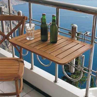 Mesas perfectas para terrazas o balcones peque os ideas for Mesas plegables para terraza