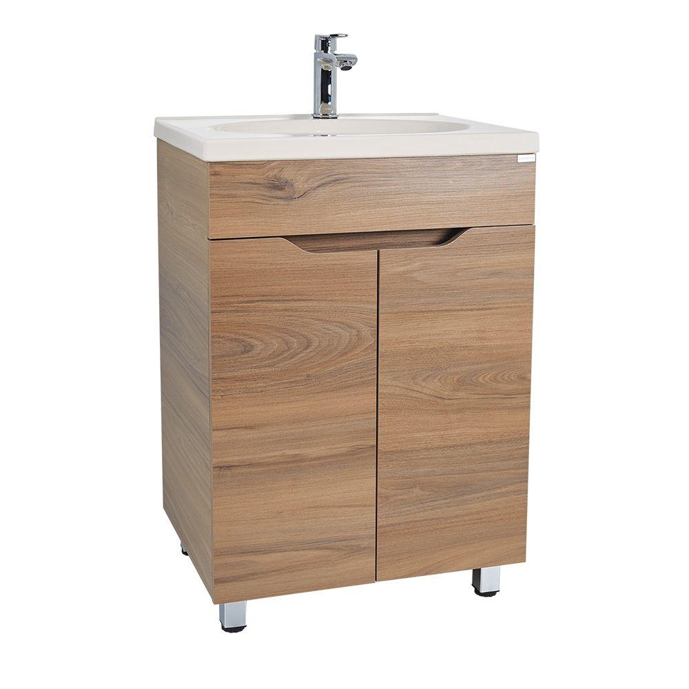 Mueble teresina con lavamanos elipse ba os muebles for Gabinete de almacenamiento de bano barato