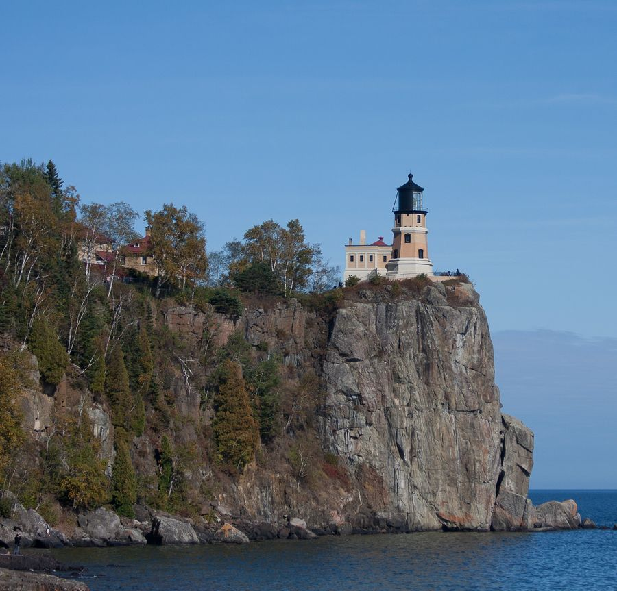 Gentil Split Rock Lighthouse Located Southwest Of Silver Bay North Shore Of Lake  Superior Minnesota US By
