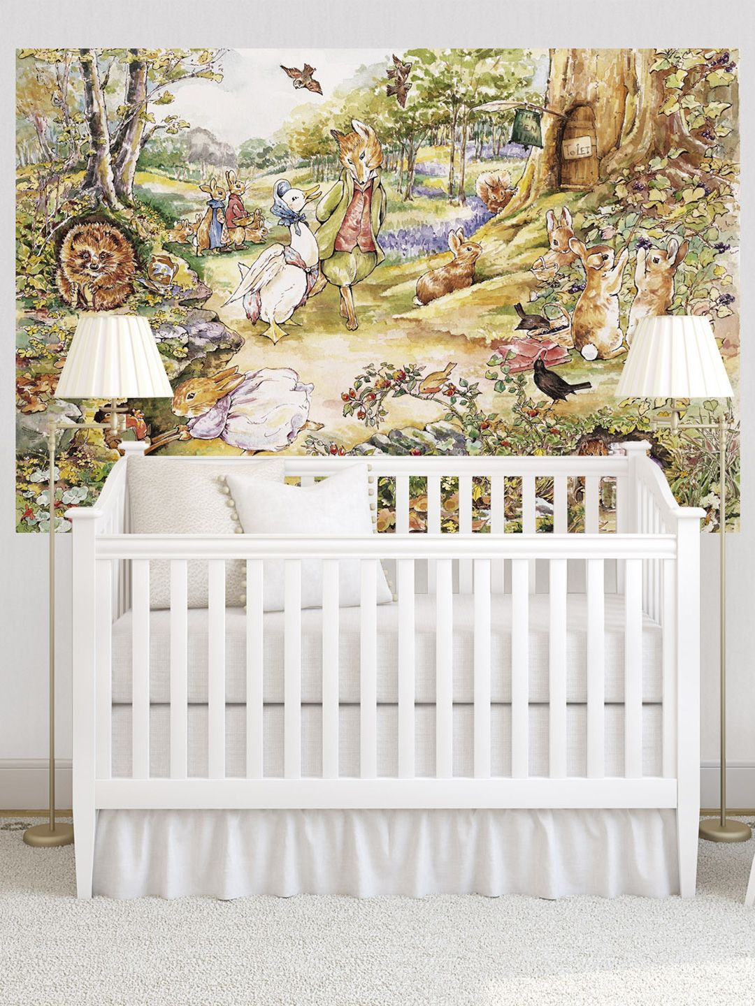 A surprise for my wife and the nursery country woodlands wall mural by murals your