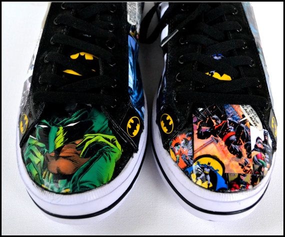 Custom Mens Shoes, Mens Batman Shoes, Custom Adult Shoes