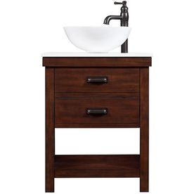 Shop Style Selections Cromlee Bark Single Vessel Sink Bathroom
