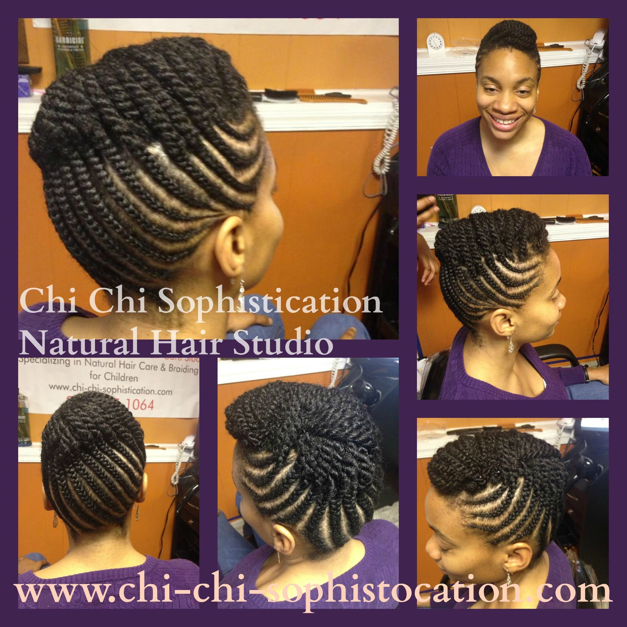 cornrow up-do for adults. (no hair added) the perfect any