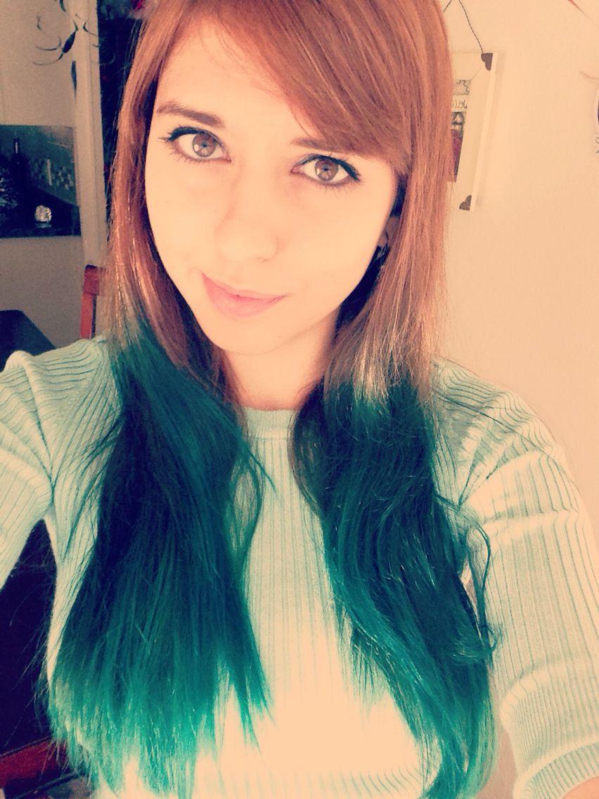 Splat Aqua Rush Hair Dye Dip Dyed