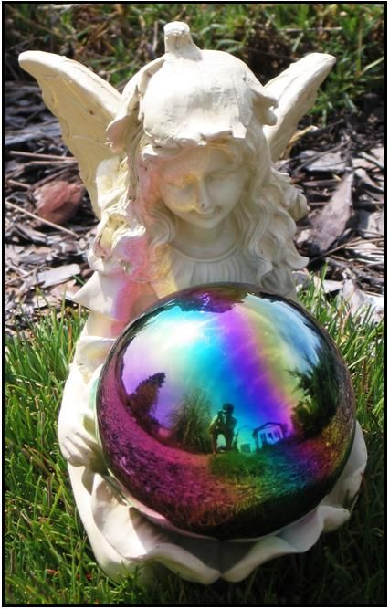 Attrayant Garden Globes And Stands | ... Stand Lawn Ornament Resin Gazing Globe Stand    Fairy With Flower Globe