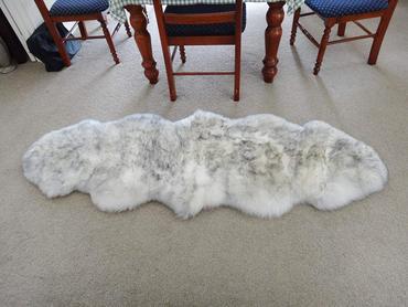Genuine 100 New Zealand Australian Woolsize Approx 2ft X 6ft On The Fur Side Top Side Genuine Soft White Sued Sheepskin Rug White Rug Sheepskin Blanket