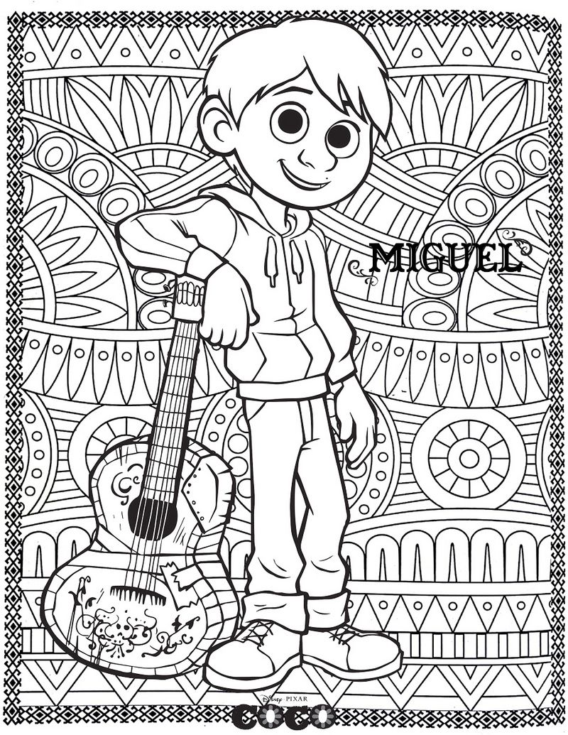 Top 8 Coco Coloring Sheets Awaiting You To Choose Disney