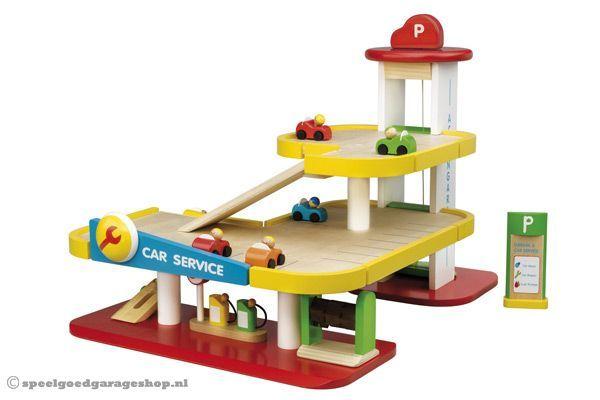 Houten Garage Janod : Woodtoys houten speelgarage speelgoedgarageshop.nl kids pinterest