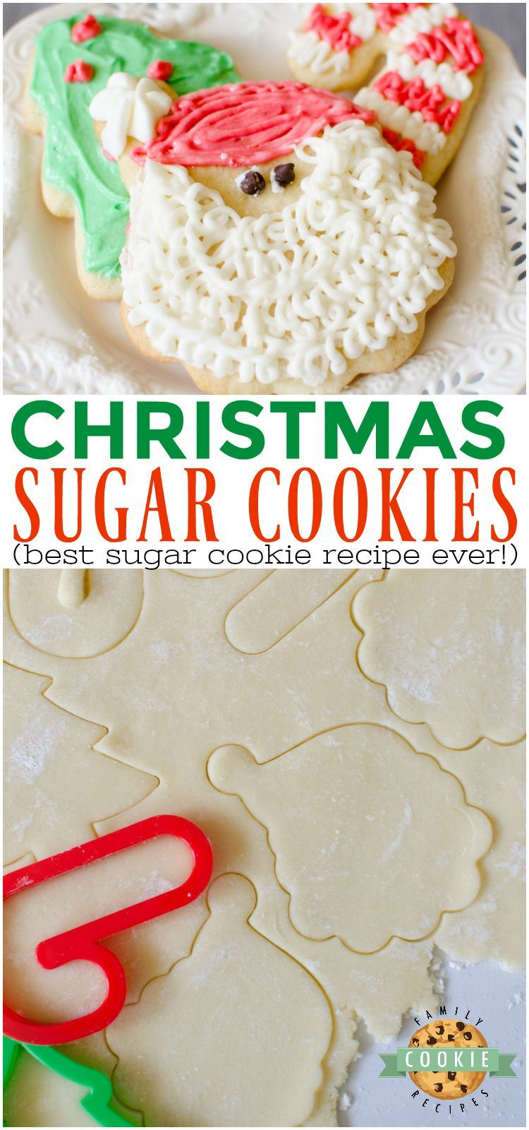 Christmas Sugar Cookies are a necessary holiday tradition at our house! This sim... - #christmas #cookies #holiday #house #necessary #sugar #tradition - #HolidayCookies