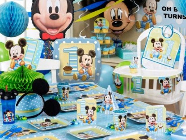 decoration anniversaire bebe mickey