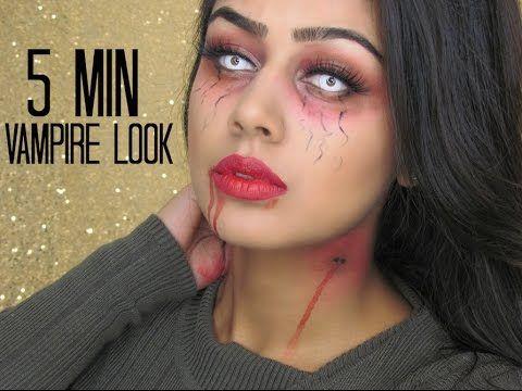 quick vampire halloween makeup tutorial  kara makeup