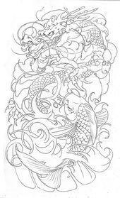 Photo of dragon-koi-half-s… Ärmel Tattoo Flash Art | 6588436197_d2b0f9b4ba_z.jpg …… Mein Blog #flowertattoos – Blumen-Tattoos-Designs