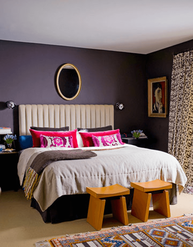 room dark purple bedroom