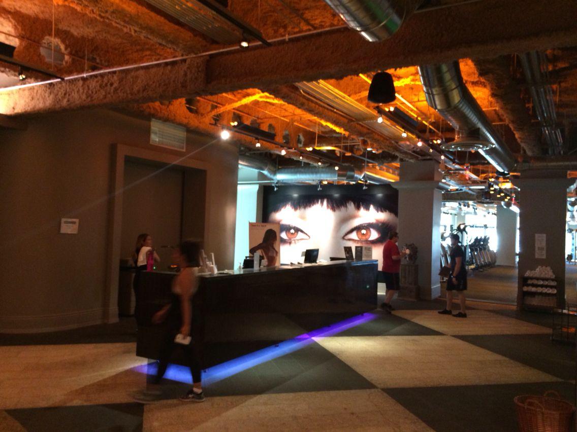 David Barton Gym reception area this morning Academia
