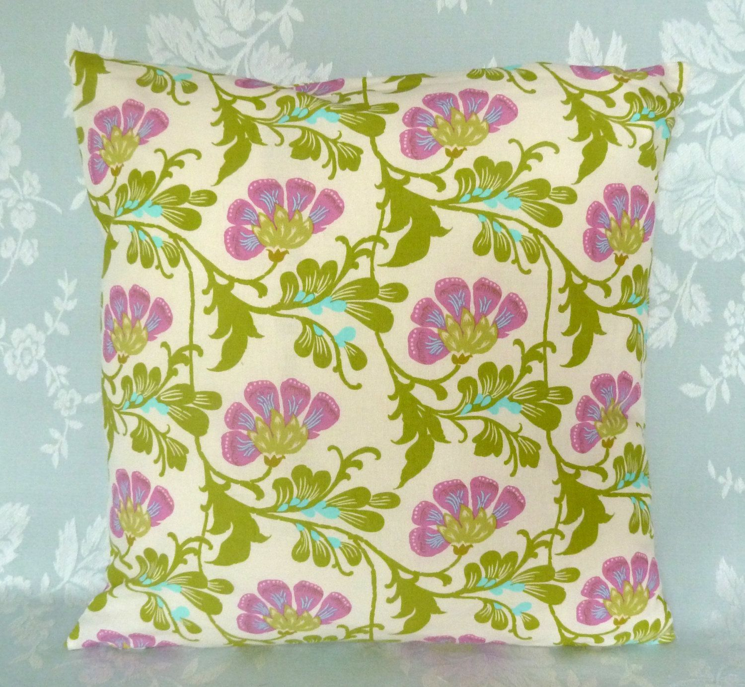 Cushion cover made in amy butler fabric daisy chain sweet jasmine