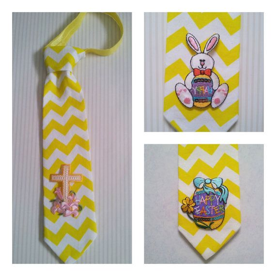 Little boy's Easter Ties Toddler Tie Boy's Yellow by thatsewcrazy