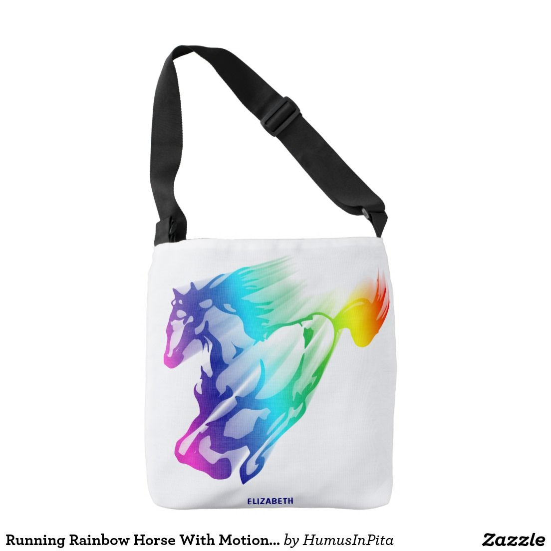 Running Rainbow Horse With Motion Trail Tote Bag