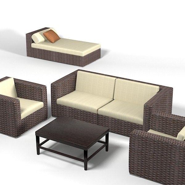 Merveilleux Outdoor Furniture 3d Model Free » Photo Gallery Backyard