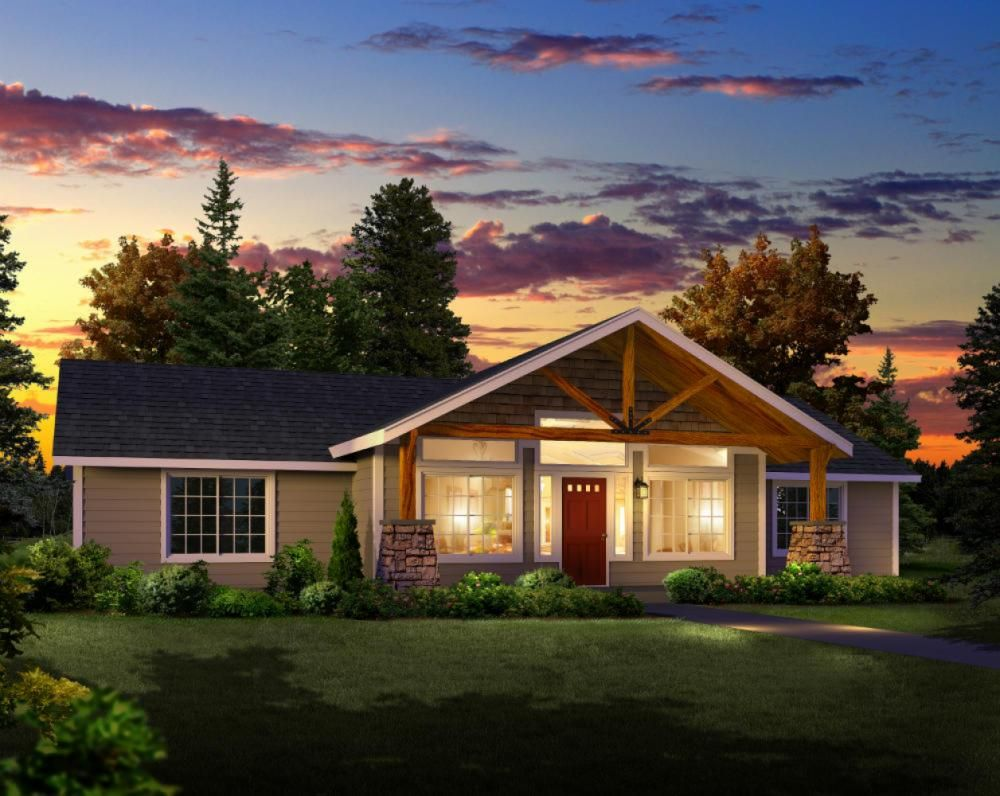 Open a frame front porch i like the room halls laundry for Hiline homes floor plans