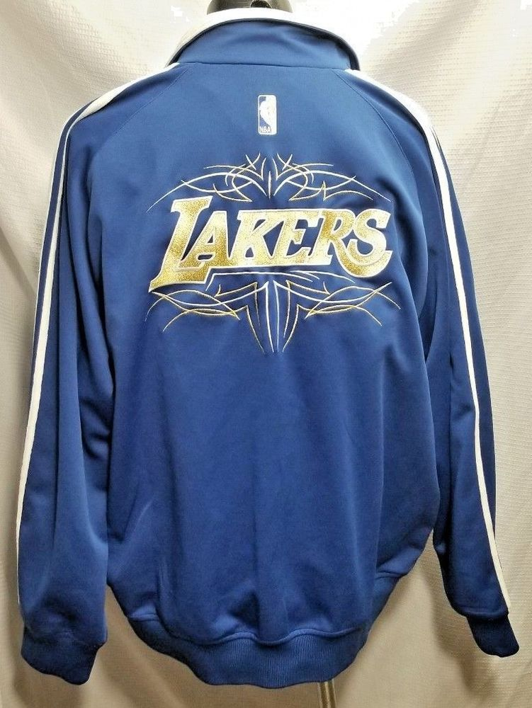 Los Angeles Lakers Limited Edition Jacket Warm Up Blue Gold Script Adidas 2xl Adidas Losangeleslakers