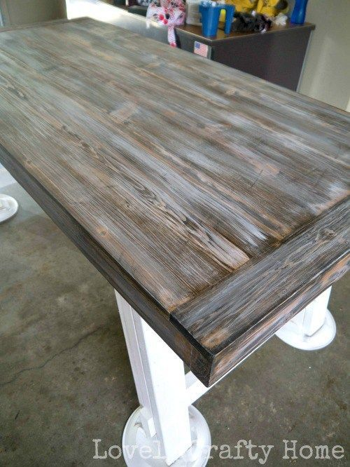 Diy Weathered Table Finish Furniture Makeover Painted