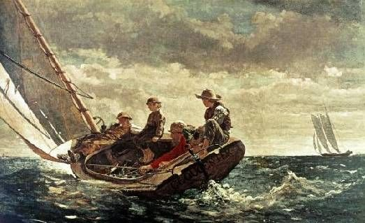 Breezing Up  by Winslow Homer  Paper Print Repro