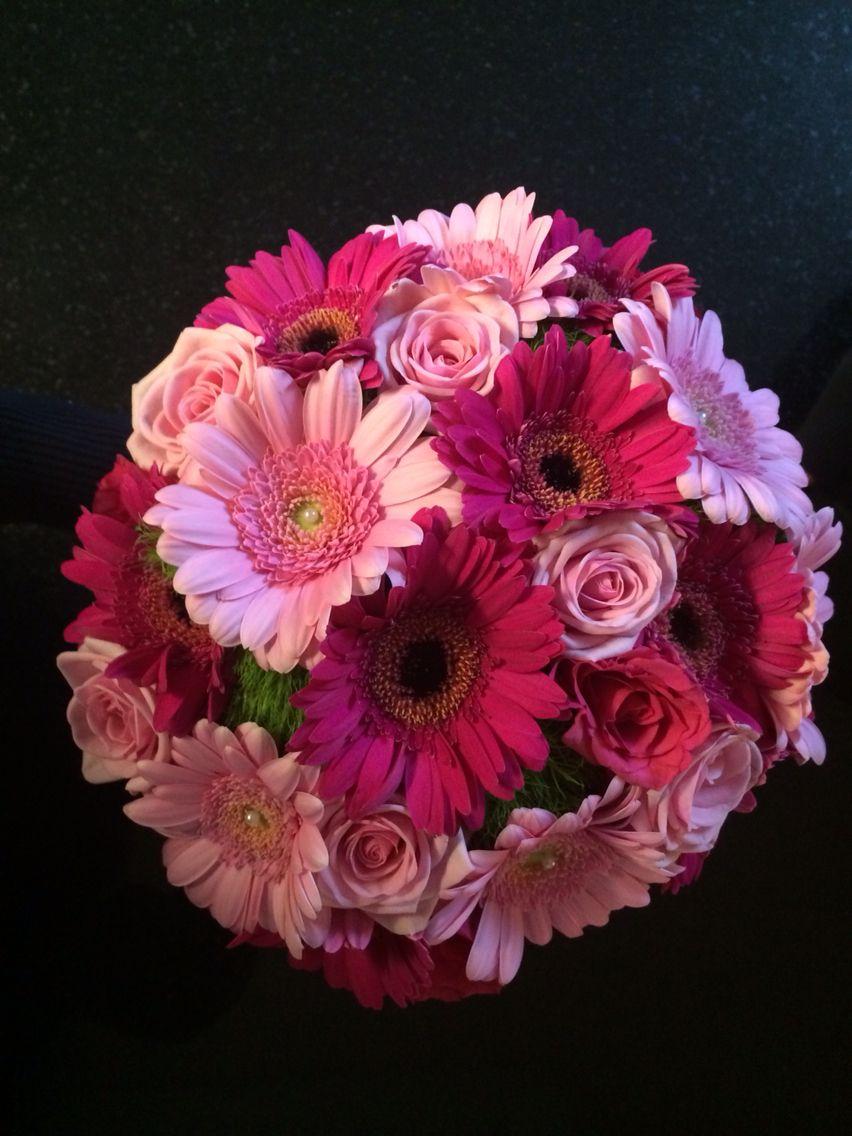6.- Centros de Mesa con Gerberas   boda carias ordoñez   Pinterest ...
