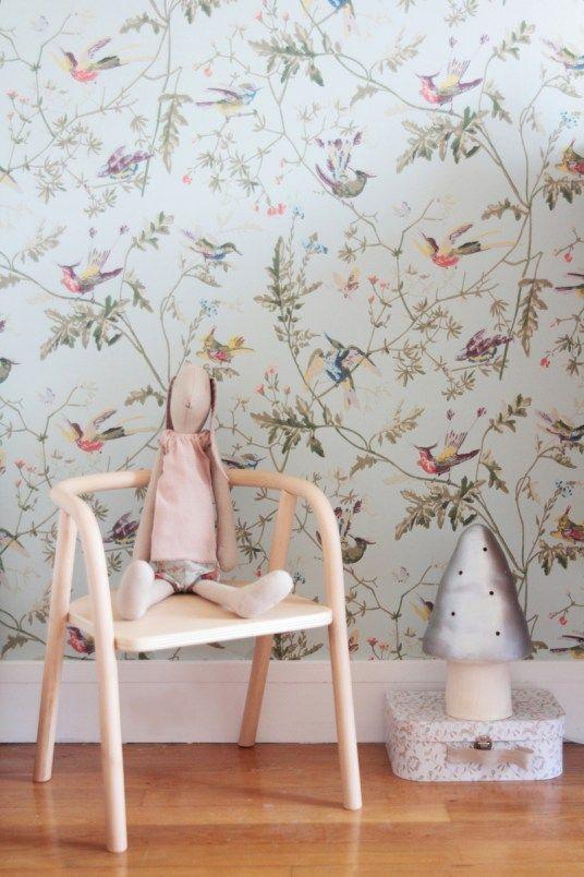 chambre-fille-vintage-retro-romantique-rose-vert-menthe | Déco ...