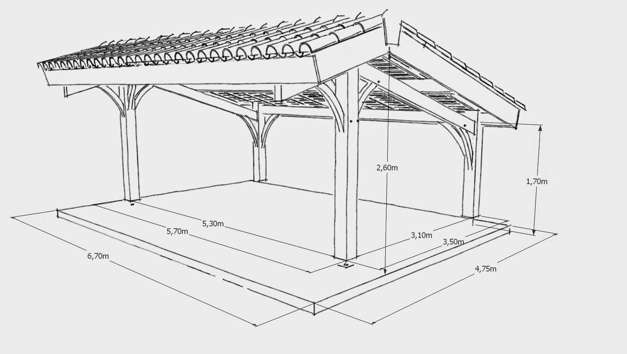 Plan Carport 2 Voitures Pdf Maison Design Hosnya Com Avec Dimensions 2bcarport 2bbois 2b2 2bvoitures Et Keyword 3 1276x721p In 2020 Carports Carport Holz Carport Plane