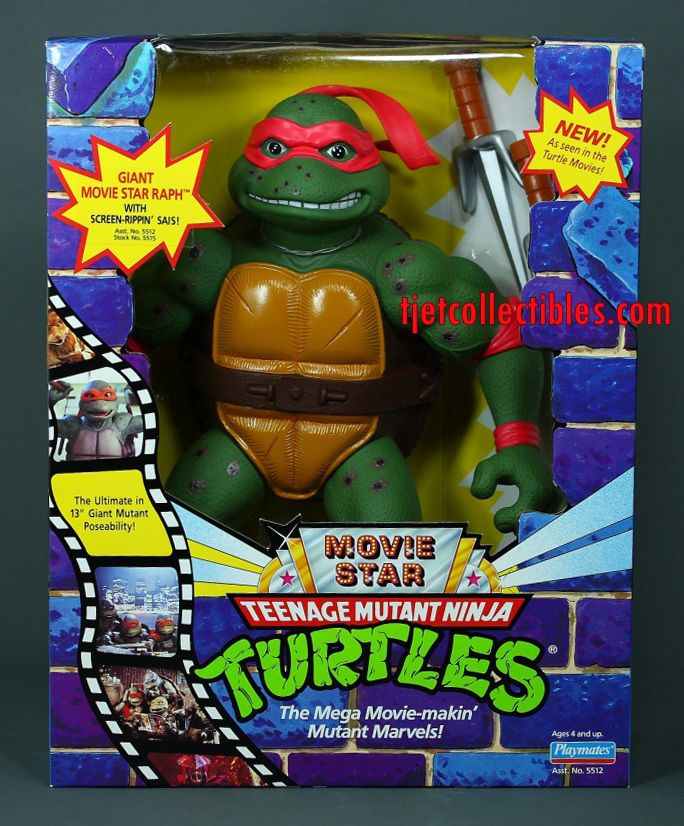 Tmnt Giant Movie Star Raph 13 Action Figure 1992 Playmates Sealed