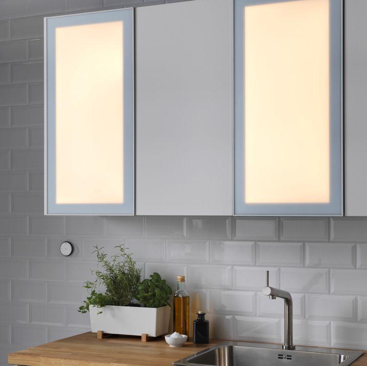 jormlien-tür-küche-led-beleuchtung-smart-fernbedienung-dimmbar - led panel küche