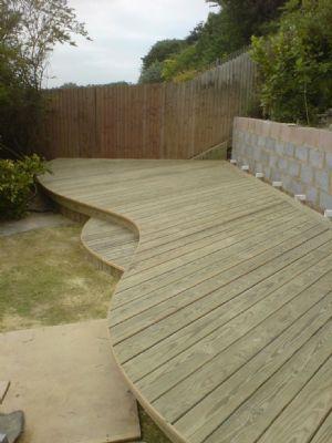Beautiful Curved Deck Deck Designs Backyard Decks Backyard Curved Deck