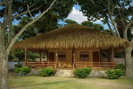 The Bahay Kubo Balay Or Nipa Hut Is A Type Of Stilt House